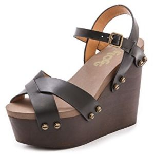 Flogg Liliana Open Toe Platform Wedge Sandal